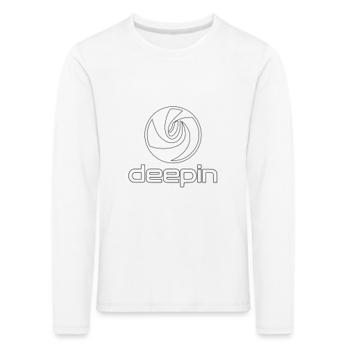 deepinlogotrasparente - Maglietta Premium a manica lunga per bambini