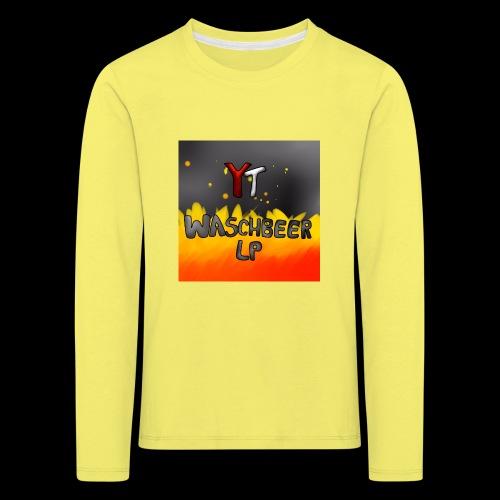 Waschbeer Design 2# Mit Flammen - Kinder Premium Langarmshirt