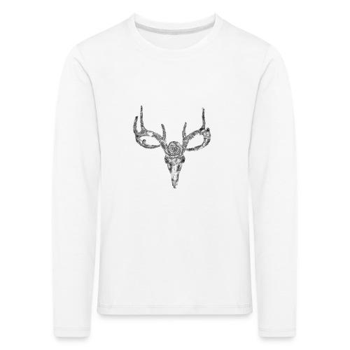 Deer skull with rose - Lasten premium pitkähihainen t-paita