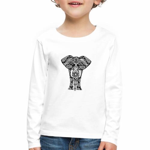 Ażurowy słoń - Koszulka dziecięca Premium z długim rękawem