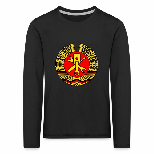DDR Tuning Coat of Arms 3c (+ Your Text) - Kids' Premium Longsleeve Shirt