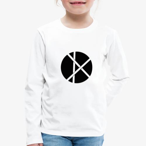 Don Logo - musta - Lasten premium pitkähihainen t-paita