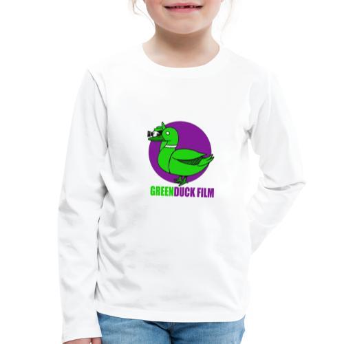 Greenduck Film Purple Sun Logo - Børne premium T-shirt med lange ærmer