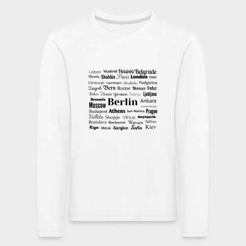 European capitals - Kids' Premium Longsleeve Shirt