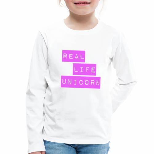 Real life unicorn - Kids' Premium Longsleeve Shirt