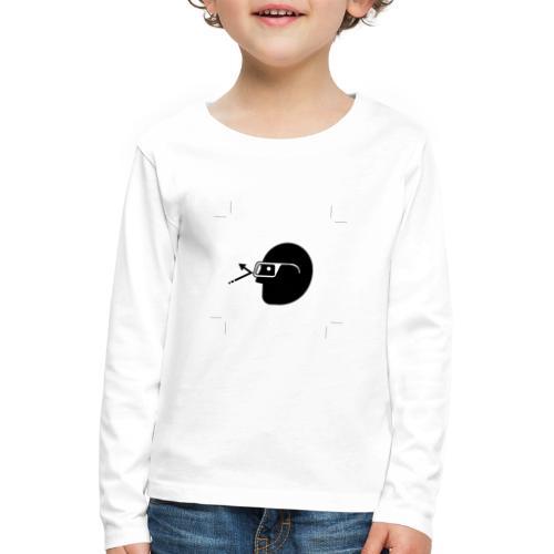 Kopf mit Brille - Kinder Premium Langarmshirt