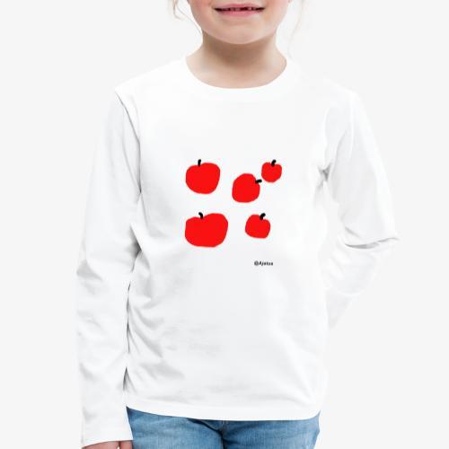 Omenat - Lasten premium pitkähihainen t-paita