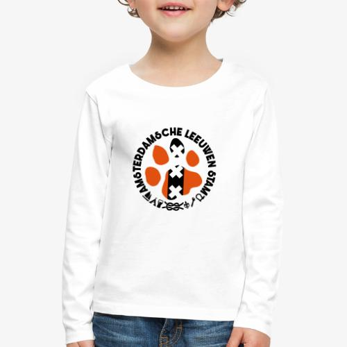 ALS witte rand licht - Kinderen Premium shirt met lange mouwen