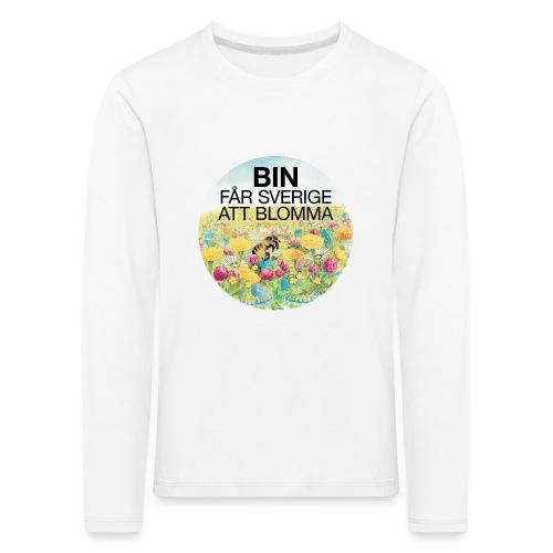 Bin får Sverige att blomma - Långärmad premium-T-shirt barn