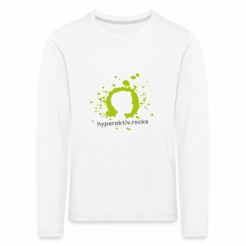 hyperaktiv.rocks Logo - Kinder Premium Langarmshirt