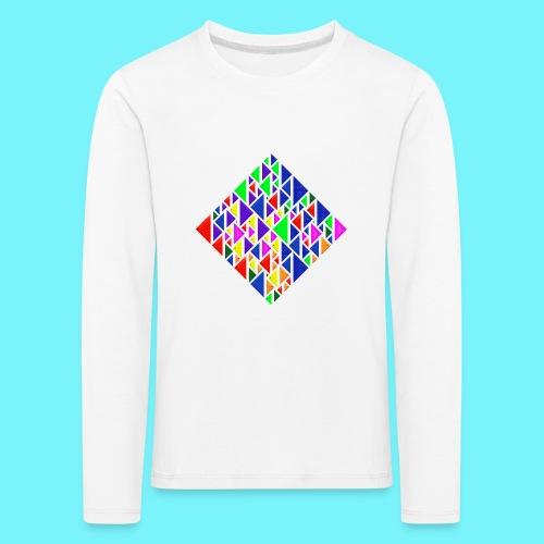 A square school of triangular coloured fish - Kids' Premium Longsleeve Shirt