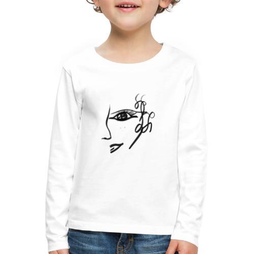 Gesicht - Kinder Premium Langarmshirt