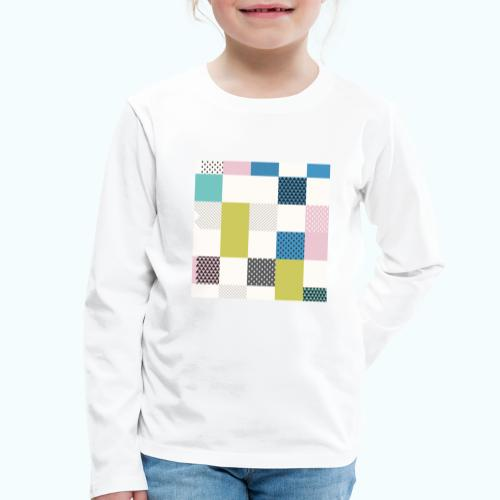 Abstract art squares - Kids' Premium Longsleeve Shirt