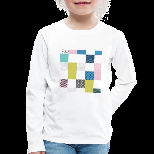Abstract art squares - Kids' Premium Longsleeve Shirt