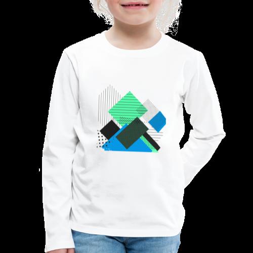 Abstract rectangles pastel - Kids' Premium Longsleeve Shirt