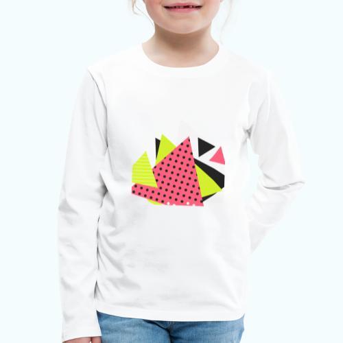 Neon geometry shapes - Kids' Premium Longsleeve Shirt