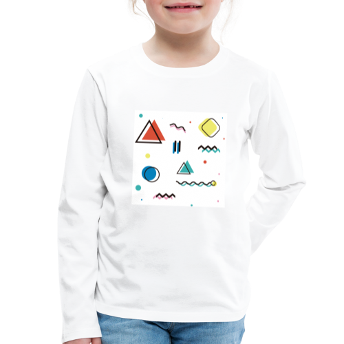Abstract geometry - Kids' Premium Longsleeve Shirt