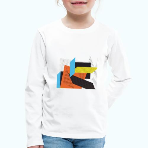 Vintage shapes abstract - Kids' Premium Longsleeve Shirt