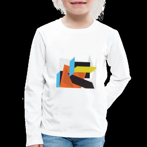 Vintage shapes abstract - Kids' Premium Longsleeve Shirt