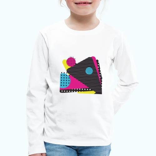 Abstract vintage shapes pink - Kids' Premium Longsleeve Shirt