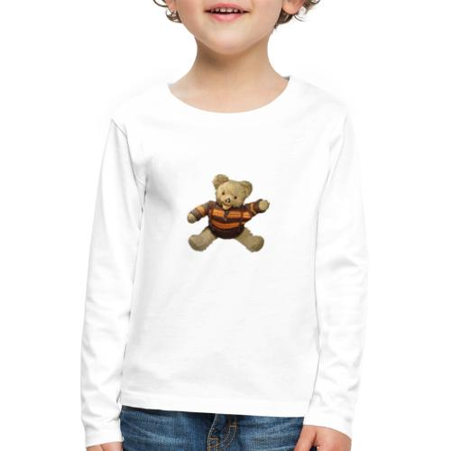 Teddybär - orange braun - Retro Vintage - Bär - Kinder Premium Langarmshirt