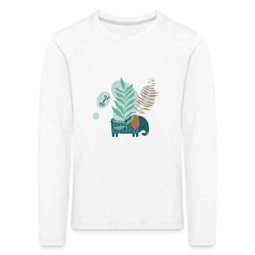 elephant in savannah - Maglietta Premium a manica lunga per bambini