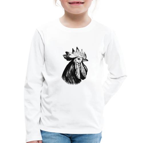 Hahn Kopf - Kinder Premium Langarmshirt