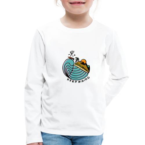 Surfeur au Couchant - T-shirt manches longues Premium Enfant