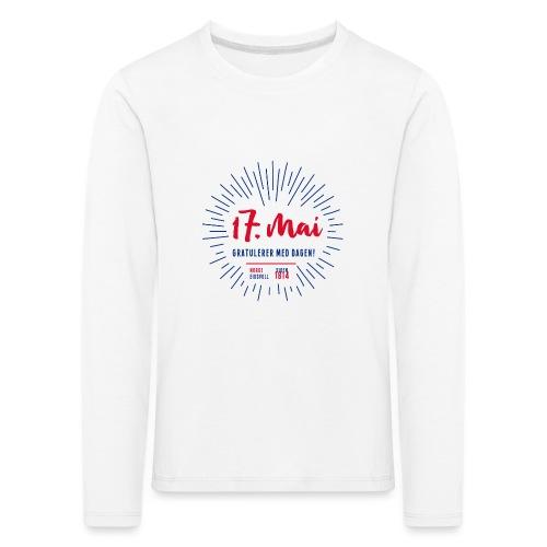 17. mai T-skjorte - Det norske plagg - Premium langermet T-skjorte for barn