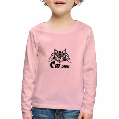 Black Cat Devil - Kinder Premium Langarmshirt