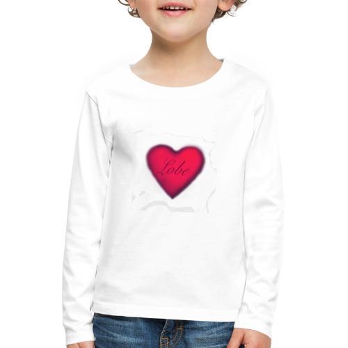 liebe, ist Freundlichkeit zwischen den Menschen - Kinder Premium Langarmshirt