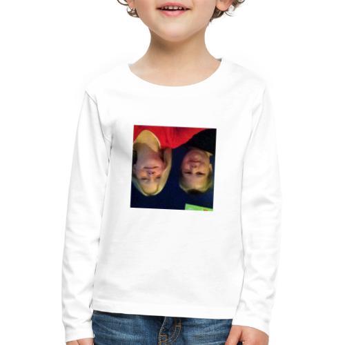 Gammelt logo - Børne premium T-shirt med lange ærmer