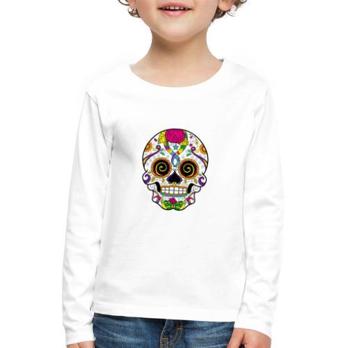 skull3 - Maglietta Premium a manica lunga per bambini