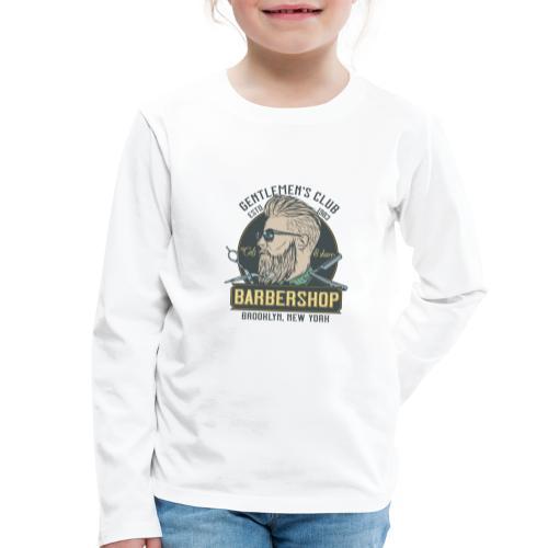 Classic barbershop font 5 - Maglietta Premium a manica lunga per bambini