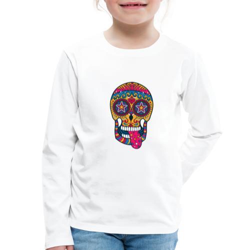 Mexican Skull - Maglietta Premium a manica lunga per bambini