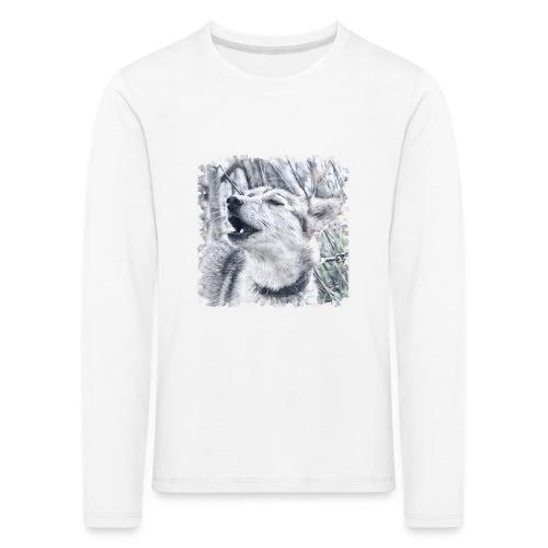 Jaulender Husky - Kinder Premium Langarmshirt