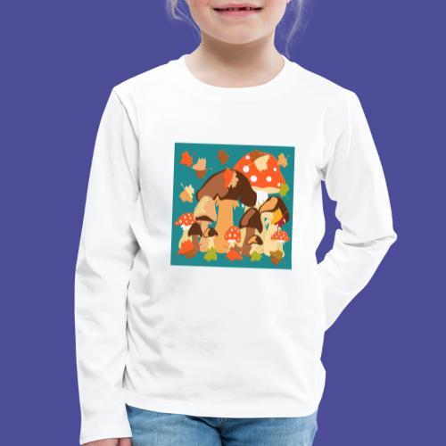 Pilze - Kinder Premium Langarmshirt