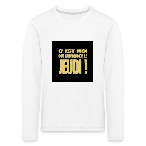 badgejeudi - T-shirt manches longues Premium Enfant