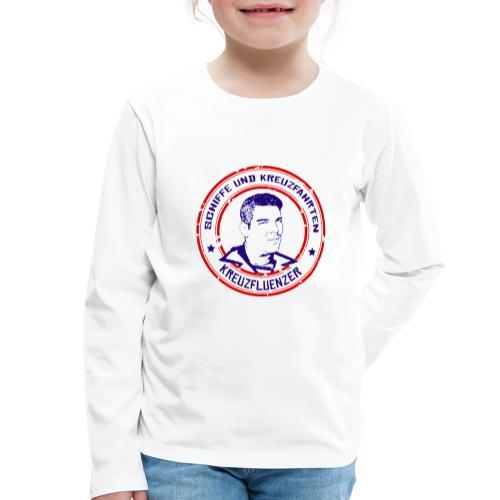 Kreuzfluenzer - Rettungsring Design (weiss) - Kinder Premium Langarmshirt