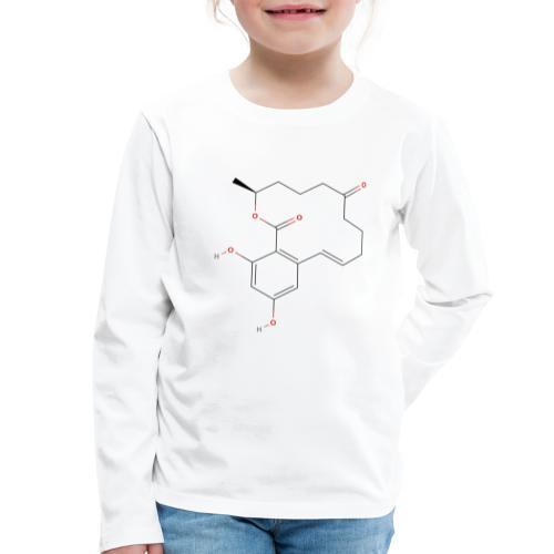 Zearalenone Molecule - Colored Structural Formula - Børne premium T-shirt med lange ærmer