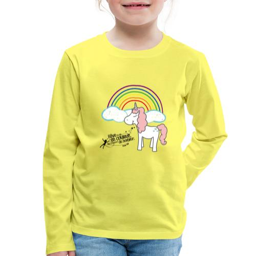 Licorne arc-en-ciel - T-shirt manches longues Premium Enfant