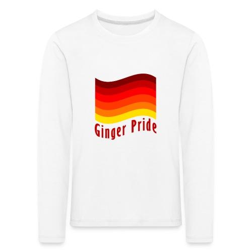 Ginger Pride flag Dark png - Kids' Premium Longsleeve Shirt