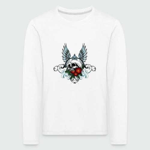 Skull Rose & Wing - Maglietta Premium a manica lunga per bambini