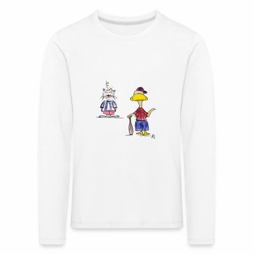 Cartoon Baseball - Kinder Premium Langarmshirt