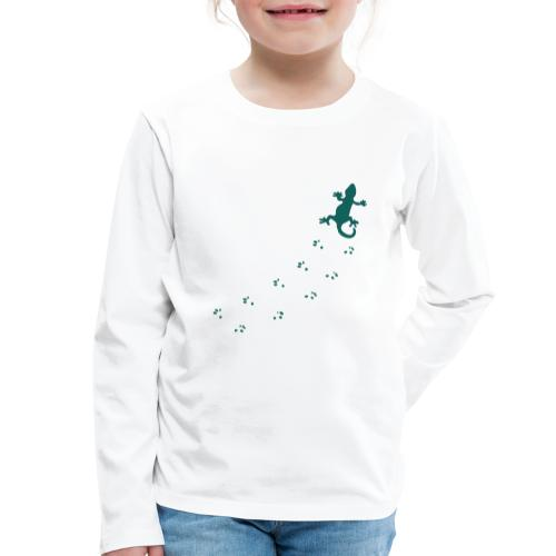 Messy Lizard Paws - Kids' Premium Longsleeve Shirt