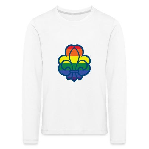 Regnbuespejder hvide t-shirts - Børne premium T-shirt med lange ærmer