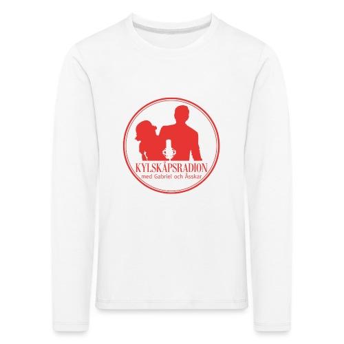 Logga helröd - Långärmad premium-T-shirt barn