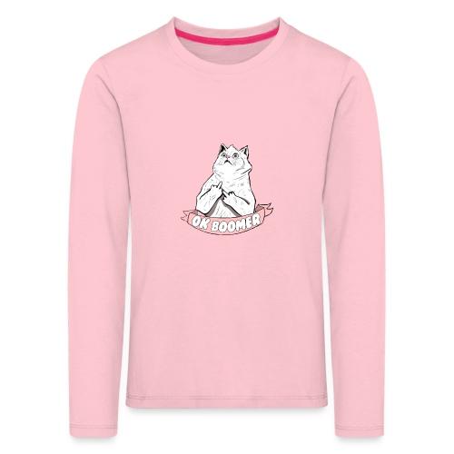 OK Boomer Cat Meme - Kids' Premium Longsleeve Shirt