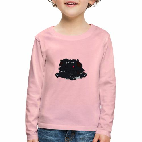 Black Big Family - Kinder Premium Langarmshirt