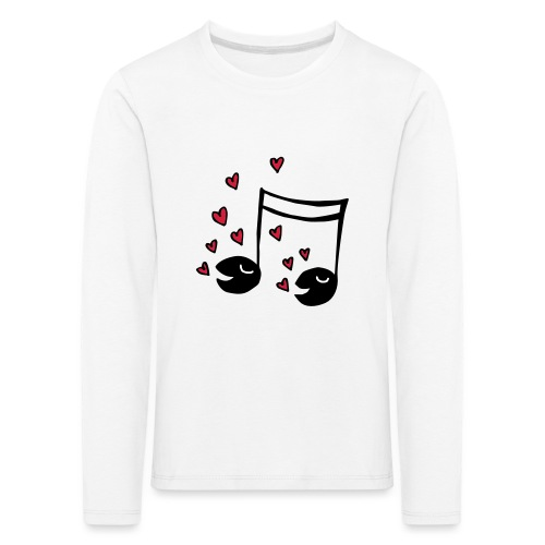 Love tunes - Kinder Premium Langarmshirt